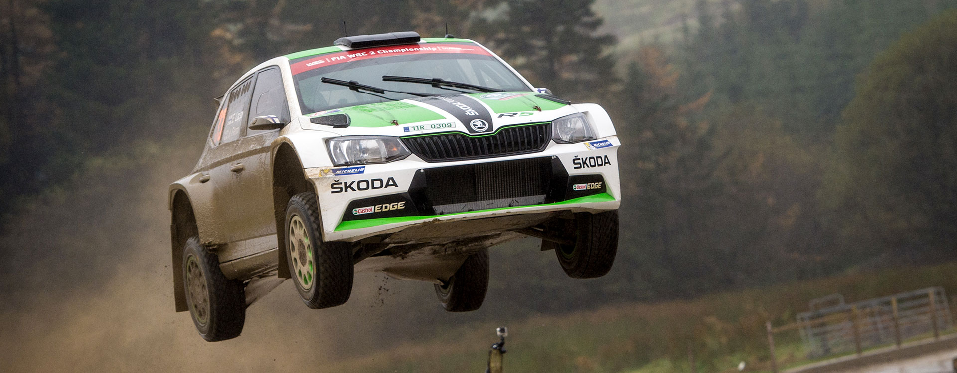 WRC Great Britain: ŠKODA works driver Lappi takes the overall lead