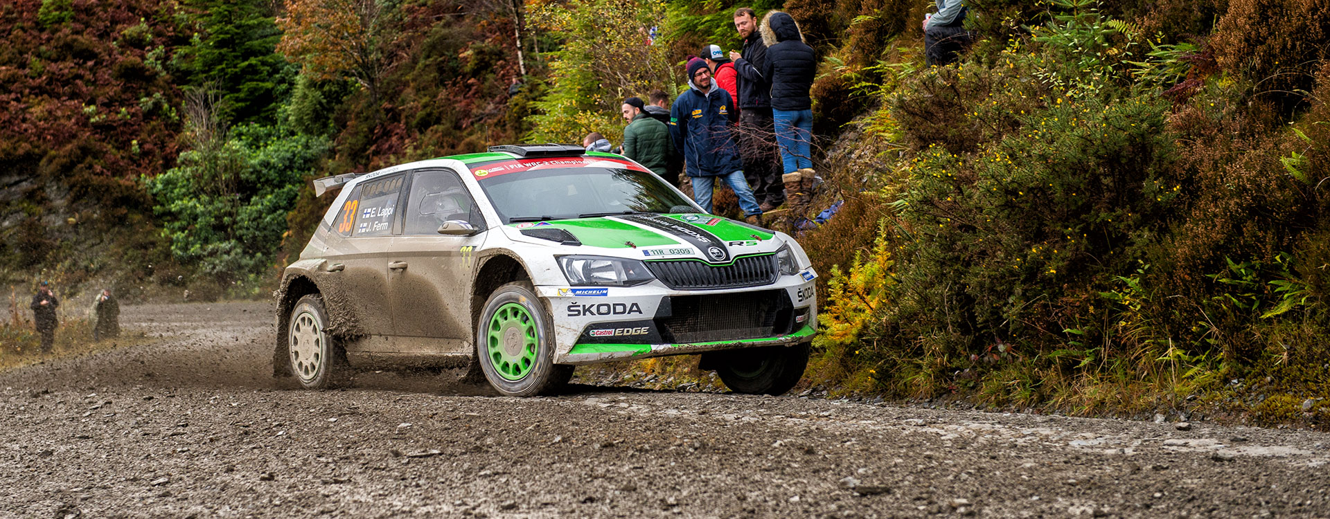 WRC Great Britain: ŠKODA works driver Lappi defends his overall lead