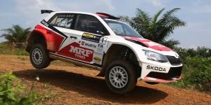 Gaurav Gill / Glenn MacNeall, ŠKODA FABIA R5, Team MRF. International Rally of Whangarei 2016