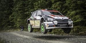 Nicolás Fuchs / Fernando Mussano, ŠKODA FABIA R5, Nicolás Fuchs. Dayinsure Wales Rally GB 2016, pre-event test