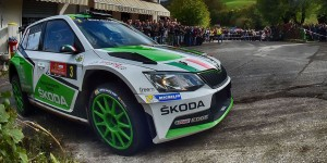Umberto Scandola / Guido D'Amore, ŠKODA FABIA R5, S.A. Motor Sport. Rally Due Valli 2016 (Photo: Acisport)
