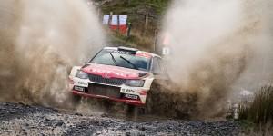 Hubert Ptaszek / Kamil Kozdroń, ŠKODA FABIA R5. Wales Rally GB 2015