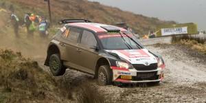 Nicolás Fuchs / Fernando Mussano, ŠKODA FABIA R5, Nicolás Fuchs. Dayinsure Wales Rally GB 2016