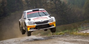David Bogie / Kevin Rae, ŠKODA FABIA R5, Wevers Sport. Dayinsure Wales Rally GB 2016