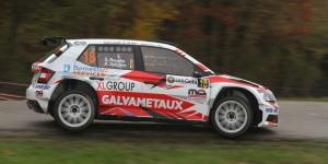 Xavier Bouche / Anthony Grégoire, ŠKODA FABIA R5, Bayard. Rallye du Condroz-Huy 2016 (Photo: BRC Media)