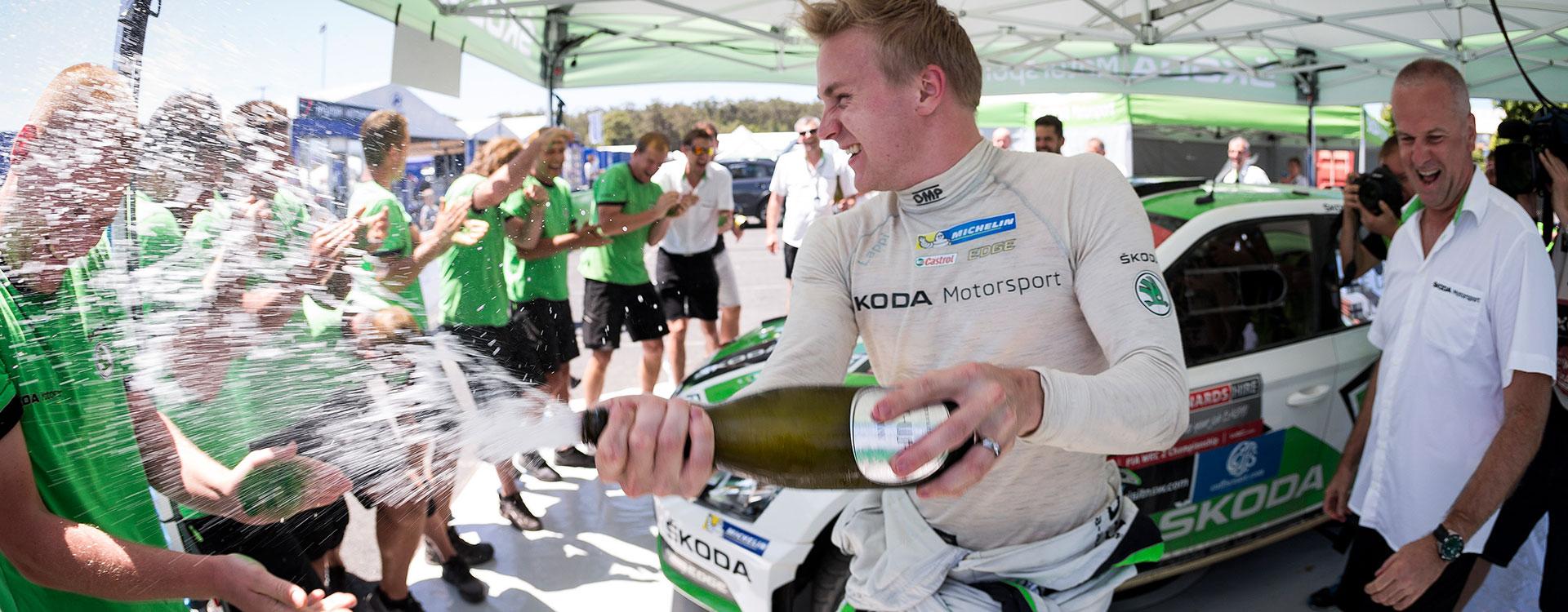 Lappi leads ŠKODA FABIA R5 to WRC2 Championship win after a dominant season