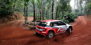 Fabian Kreim / Frank Christian, ŠKODA FABIA R5, Team MRF. APRC Malaysian Rally 2016