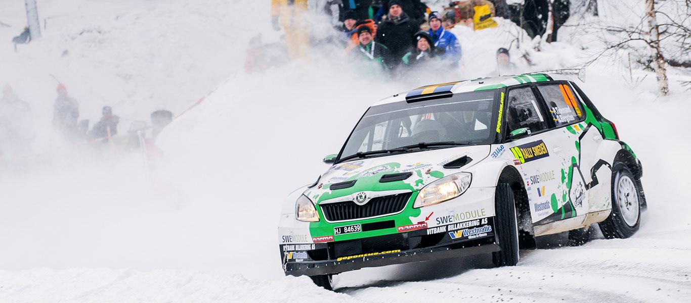 Z archivu: ŠKODA FABIA S2000 zazářila na Švédské rally 2012