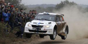 Andreas Mikkelsen / Ola Fløene, ŠKODA FABIA S2000, Volkswagen Motorsport. Rally Argentina 2012 (Photo: Volkswagen Motorsport)