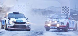 ŠKODA FABIA R5 & ŠKODA 130 RS, ŠKODA Motorsport. Rallye Automobile de Monte-Carlo 2017 Special Livery