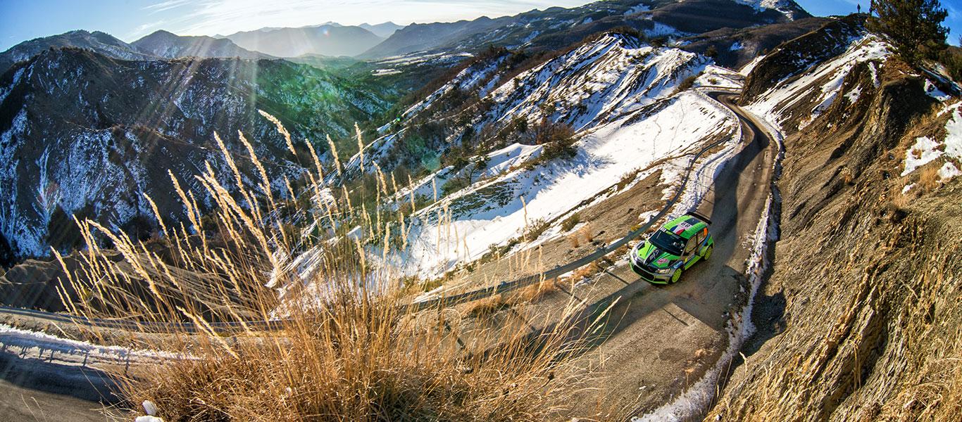PHOTO: ŠKODA Customer Teams at the Rallye Monte Carlo 2017