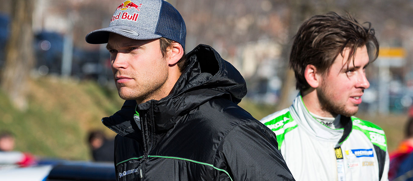 Andreas Mikkelsen dominates opening day of an icy Rallye Monte Carlo