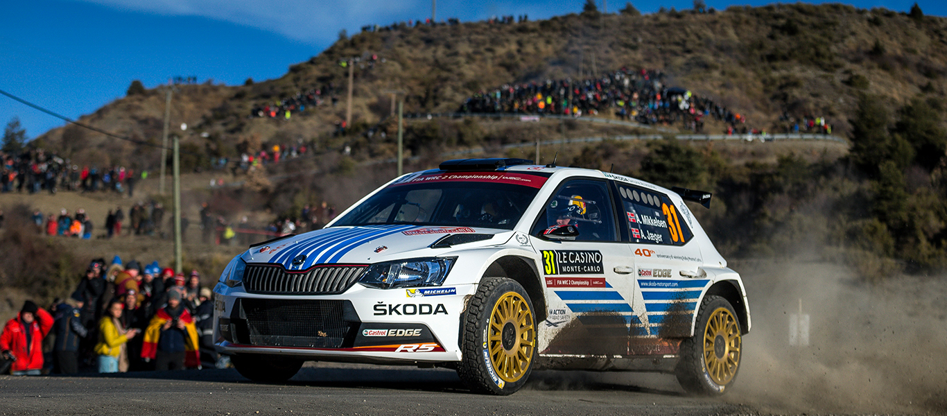 One-two lead for ŠKODA ahead of the final day of the Rallye Monte Carlo
