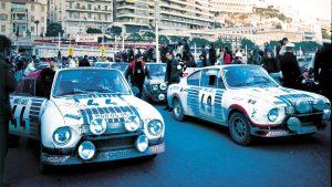 Václav Blahna / Lubislav Hlávka & Miloslav Zapadlo / Jiří Motal, ŠKODA 130 RS, ŠKODA Motorsport. Rallye Automobile de Monte-Carlo 1977