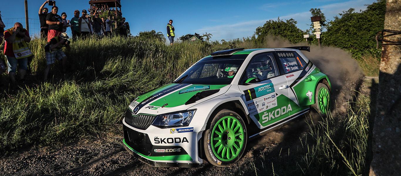 MČR: Kopecký / Dresler face WRC2 leaders Tidemand / Andersson