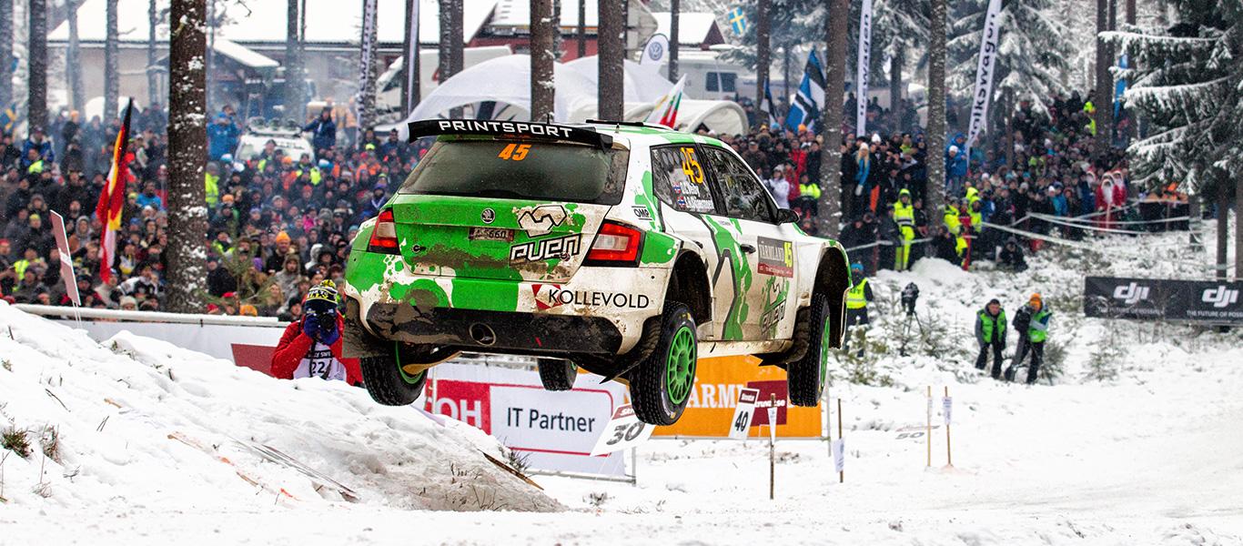 WRC Švédsko: Na zasněžené a zledovatělé tratě vyrazí pět zákaznických týmů ŠKODA
