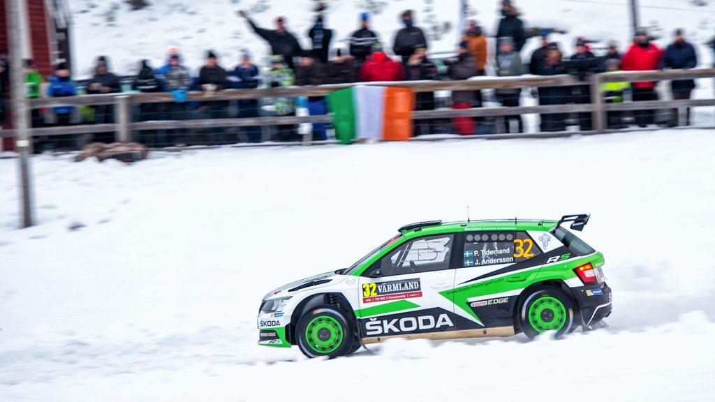 Pontus Tidemand / Jonas Andersson, ŠKODA FABIA R5, ŠKODA Motorsport. Rally Sweden 2017