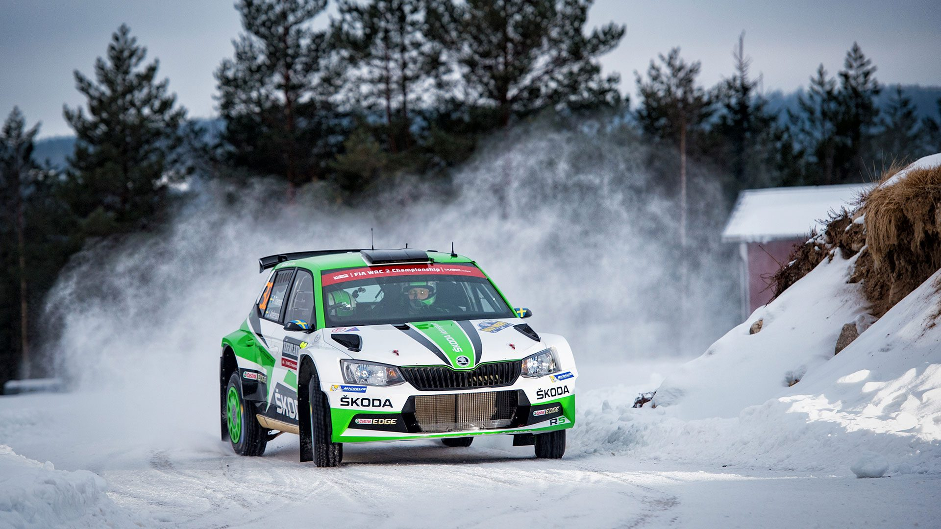 Wrc Sweden Tidemand Takes Acclaimed Home Win In The Skoda Fabia R5 Skoda Motorsport