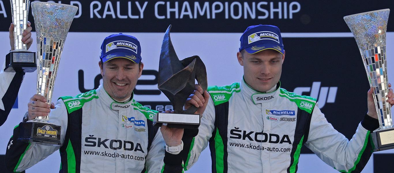 WRC Švédsko: Tidemand zvítězil s vozem ŠKODA FABIA R5 na domácí půdě