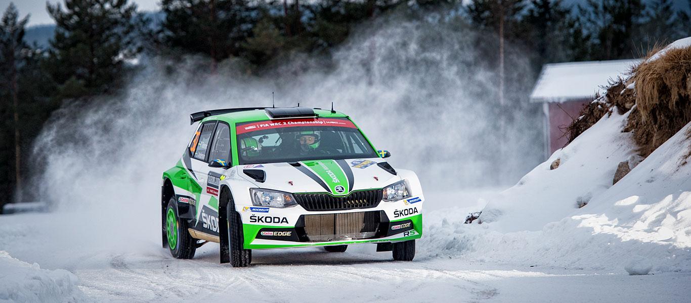 FOTO: ŠKODA Motorsport na Švédské rally 2017