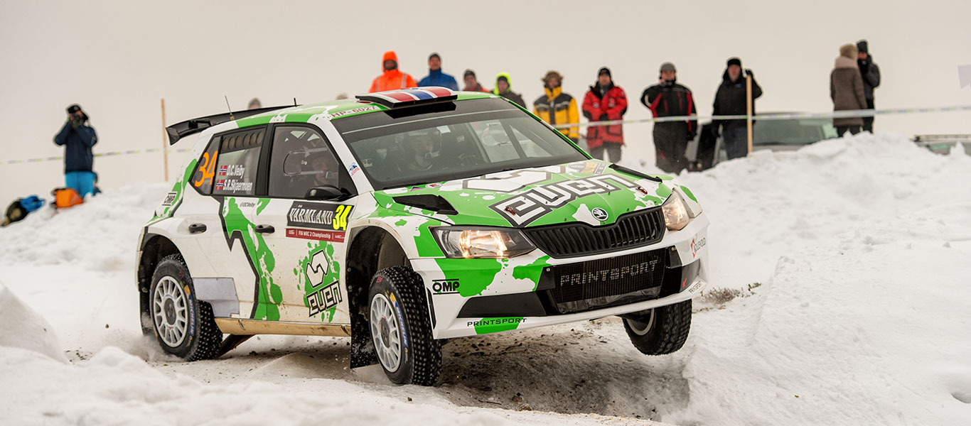 WRC Sweden: Veiby impresses with his first podium finish in the WRC2