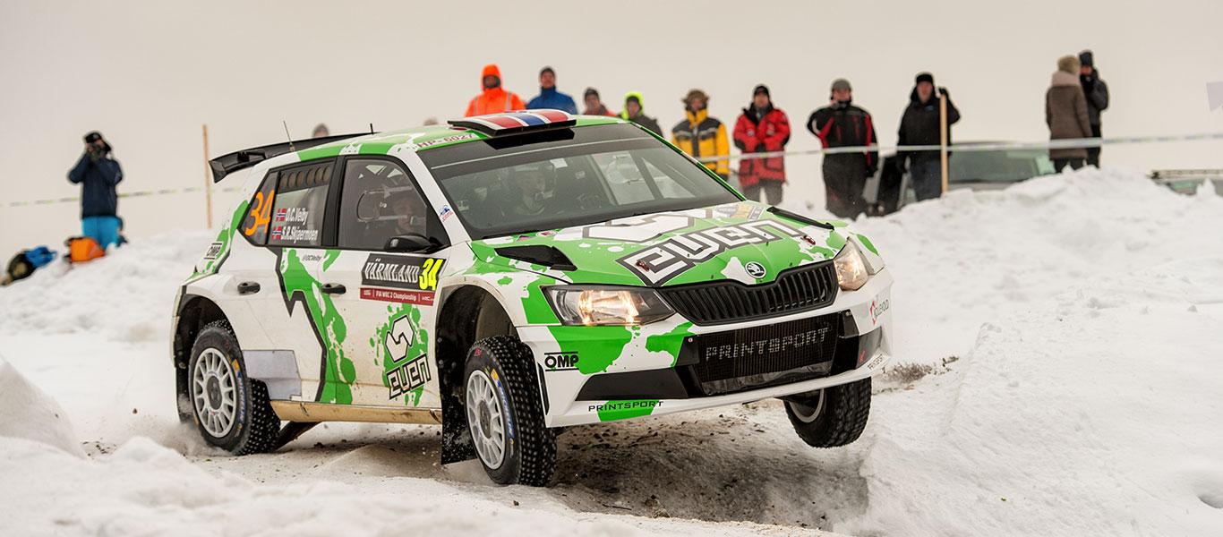WRC Švédsko: Veiby poprvé na stupních vítězů ve WRC2