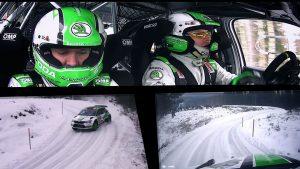 Pontus Tidemand / Jonas Andersson, Ole Christian Veiby / Stig Rune Skjærmoen, ŠKODA FABIA R5, ŠKODA Motorsport. Rally Sweden 2017
