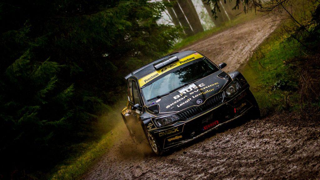 Fredrik Åhlin / Torstein Eriksen, ŠKODA FABIA R5, CA1 Sport. Border Counties Rally 2017