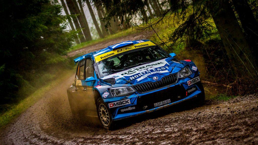 David Bogie / Kevin Rae, ŠKODA FABIA R5, CA1 Sport. Border Counties Rally 2017