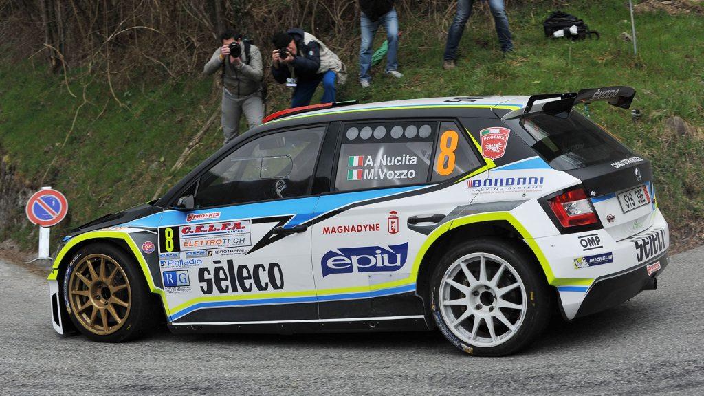 Andrea Nucita / Marco Vozzo, ŠKODA FABIA R5, DP Autosport. Rally del Ciocco e Valle del Serchio 2017 (Photo: ACI Sport)