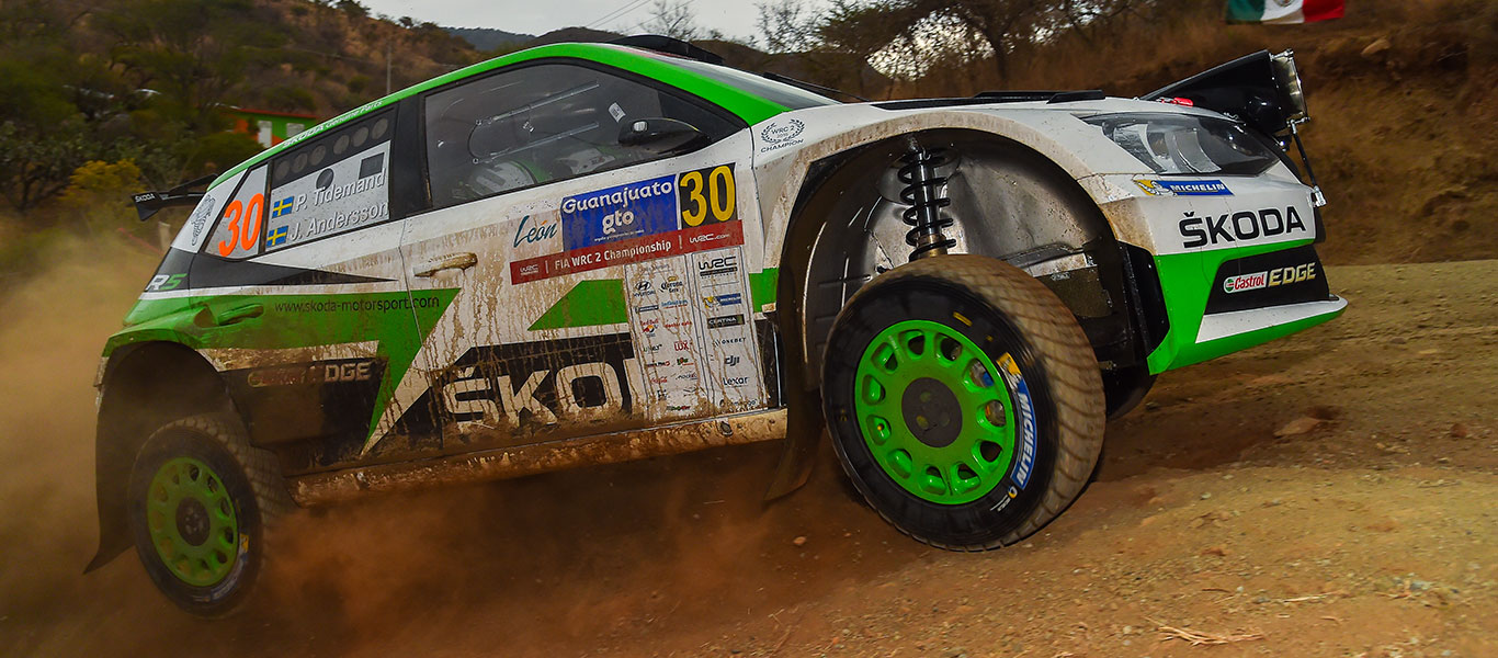 WRC Mexico: Spectacular start for Tidemand