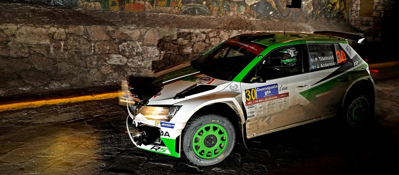WRC Mexico: Pontus Tidemand extends his lead
