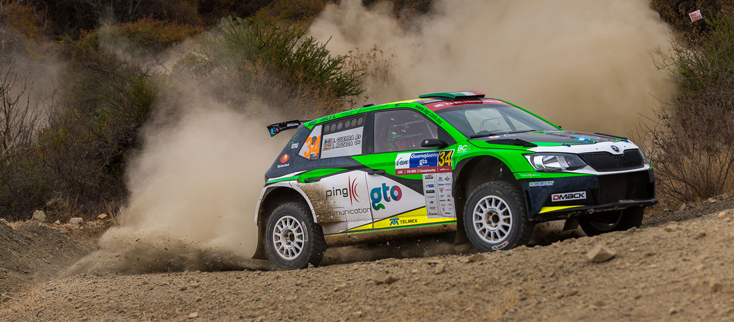 WRC Mexico: Dream debut as Benito Guerra Jr secures podium place in WRC2