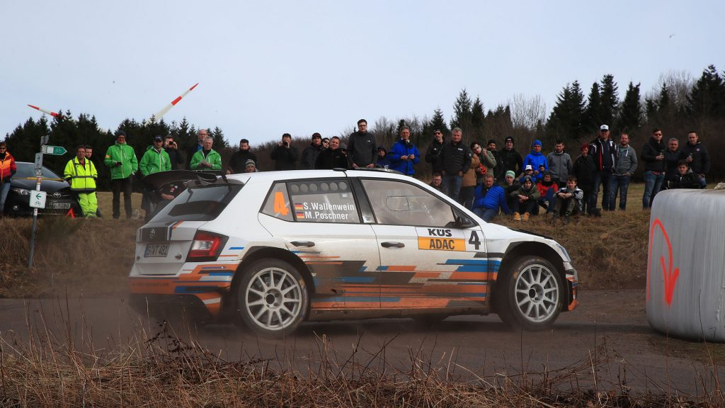 Sandro Wallenwein / Markus Poschner, ŠKODA FABIA R5, racepro motorsport. Saarland-Pfalz Rallye 2017