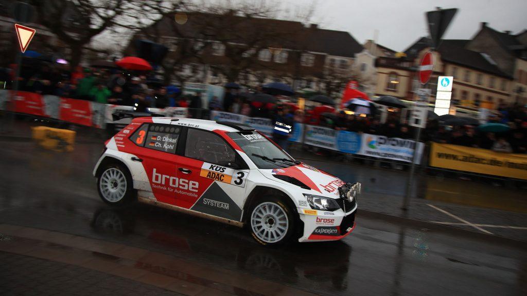 Dominik Dinkel / Christina Kohl, ŠKODA FABIA R5, Brose Motorsport. Saarland-Pfalz Rallye 2017