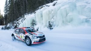 Teemu Asunmaa / Jonne Halttunen, ŠKODA FABIA R5, Hannu's Rally Team. Tahko SM Ralli 2017