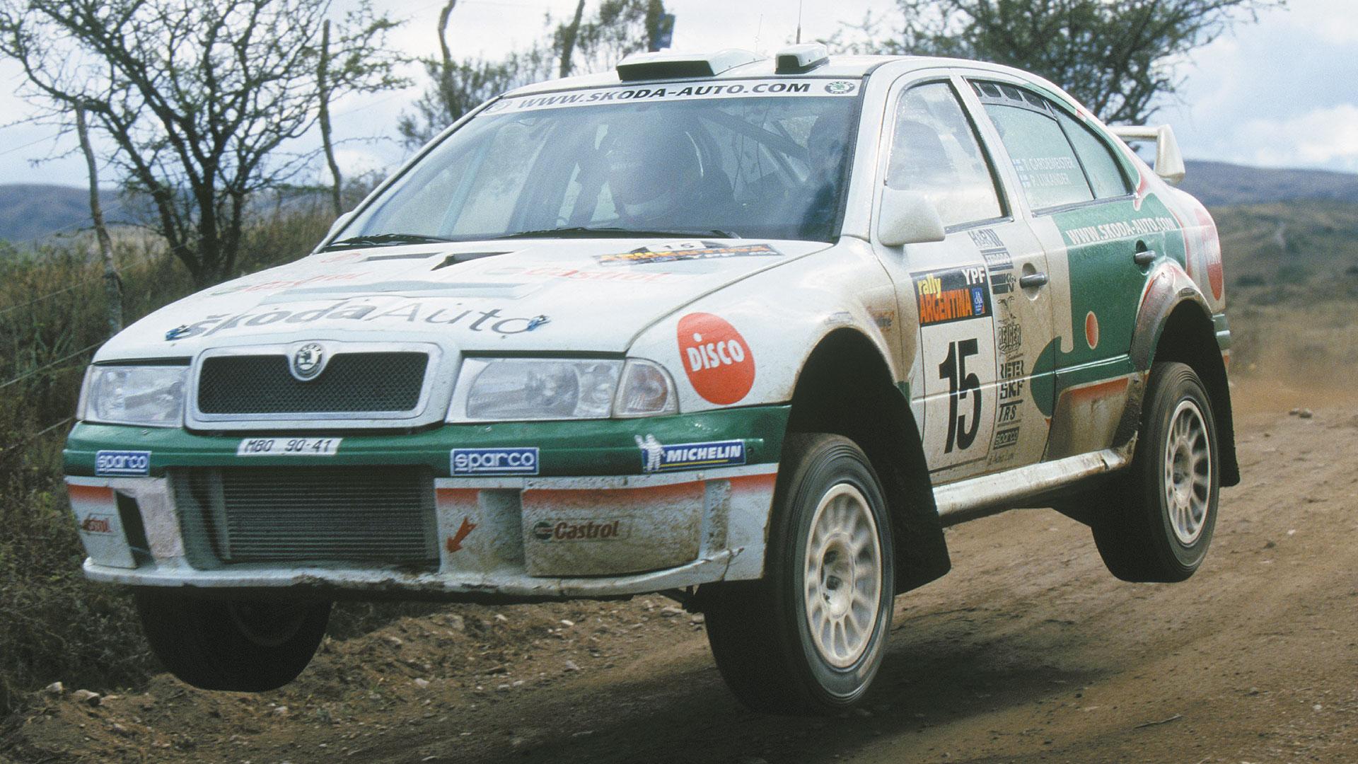 Toni Gardemeister / Paavo Lukander, ŠKODA OCTAVIA WRC, ŠKODA Motorsport. Rally Argentina 2002