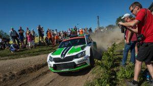 Pontus Tidemand / Emil Axelsson, ŠKODA FABIA R5, ŠKODA Motorsport. Rally Poland - Rajd Polski 2015