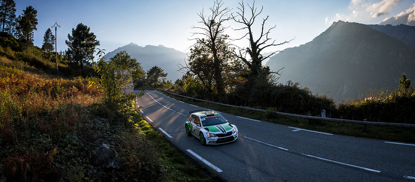 ŠKODA Motorsport faces the challenge of the 10,000 corners at the Tour de Corse