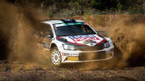 Ralfs Sirmacis / Arturs Šimins, ŠKODA FABIA R5, Sports Racing Technologies. Azores Rallye 2017