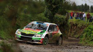Miguel Barbosa / Miguel Ramalho, ŠKODA FABIA R5, BP Ultimate Vodafone Škoda Team. Azores Rallye 2017