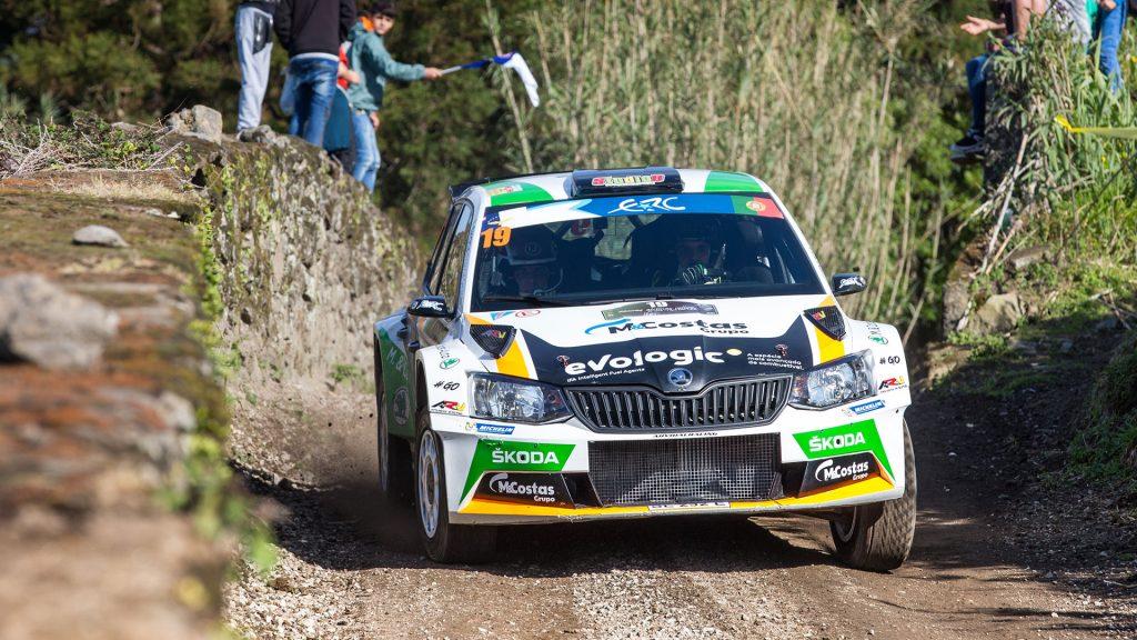 Pedro Meireles / Mário Castro, ŠKODA FABIA R5. Azores Rallye 2017