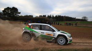 Fabian Kreim / Frank Christian, ŠKODA FABIA R5, ŠKODA AUTO Deutschland. Hessen Rallye Vogelsberg 2017