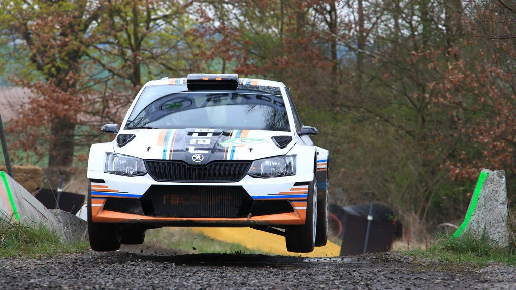 Sandro Wallenwein / Markus Poschner, ŠKODA FABIA R5, racepro motorsport. Hessen Rallye Vogelsberg 2017