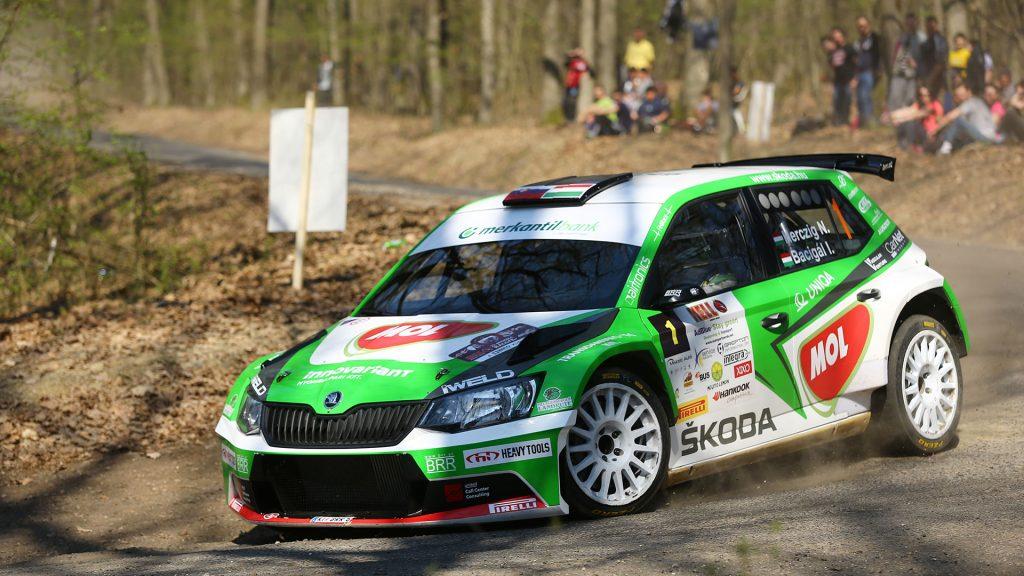 Norbert Herczig / Igor Bacigál, ŠKODA FABIA R5, Škoda Rally Team Hungaria. Miskolc Rallye 2017