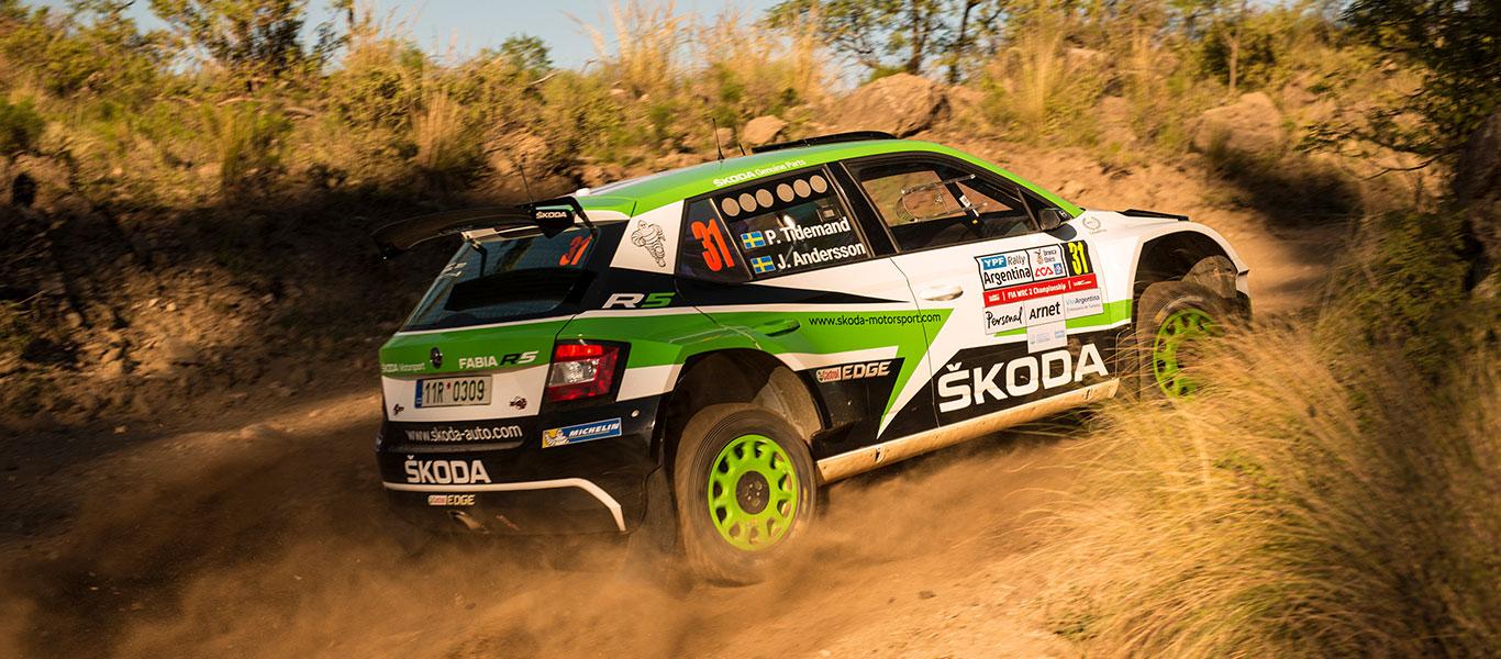 WRC Argentina: Tidemand s přehledem kontroluje vedení