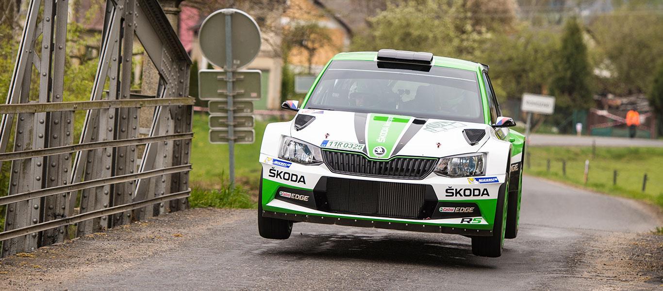PHOTO: ŠKODA FABIA R5 cars at the Rallye Šumava Klatovy 2017