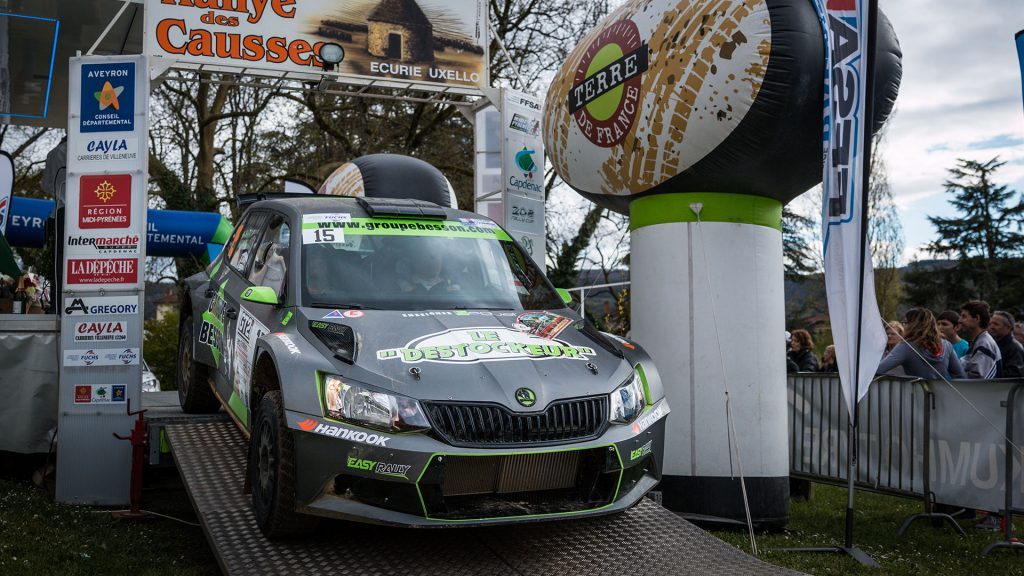 Jean-Pascal Besson / Patrice Roissac, ŠKODA FABIA R5. Rallye Terre des Causses 2017