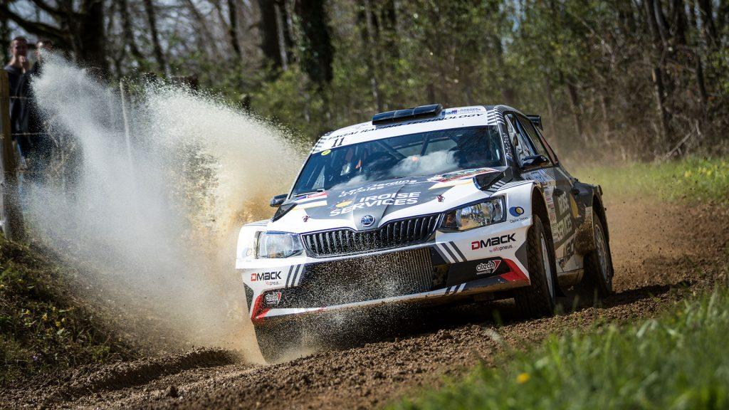 Quentin Gilbert / Renaud Jamoul, ŠKODA FABIA R5. Rallye Terre des Causses 2017