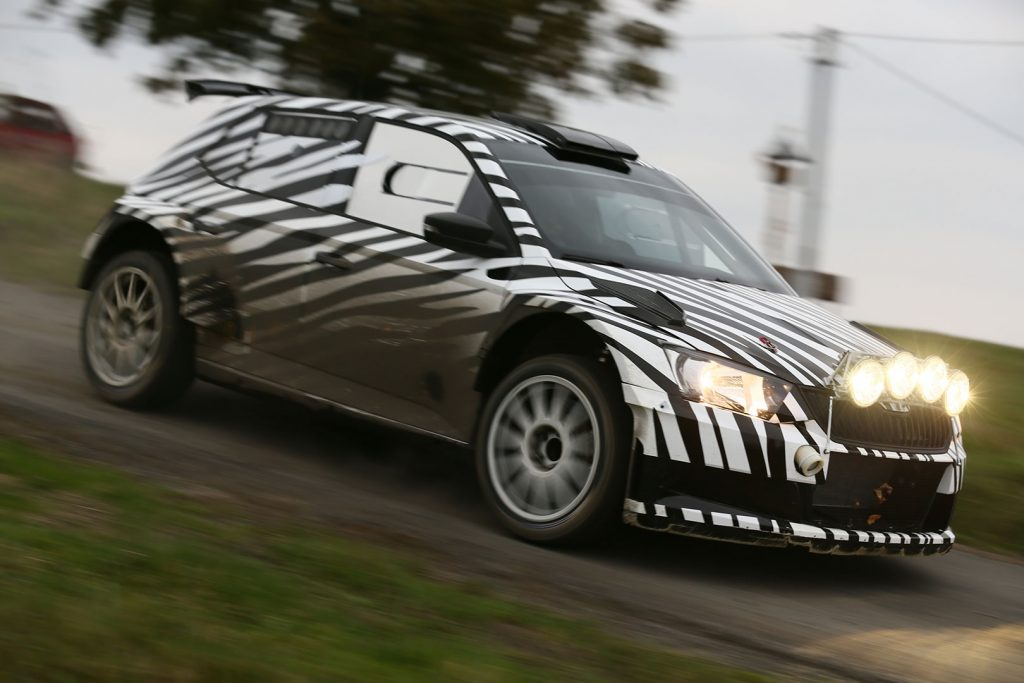 Test of the ŠKODA FABIA R5, ŠKODA Motorsport. 2015